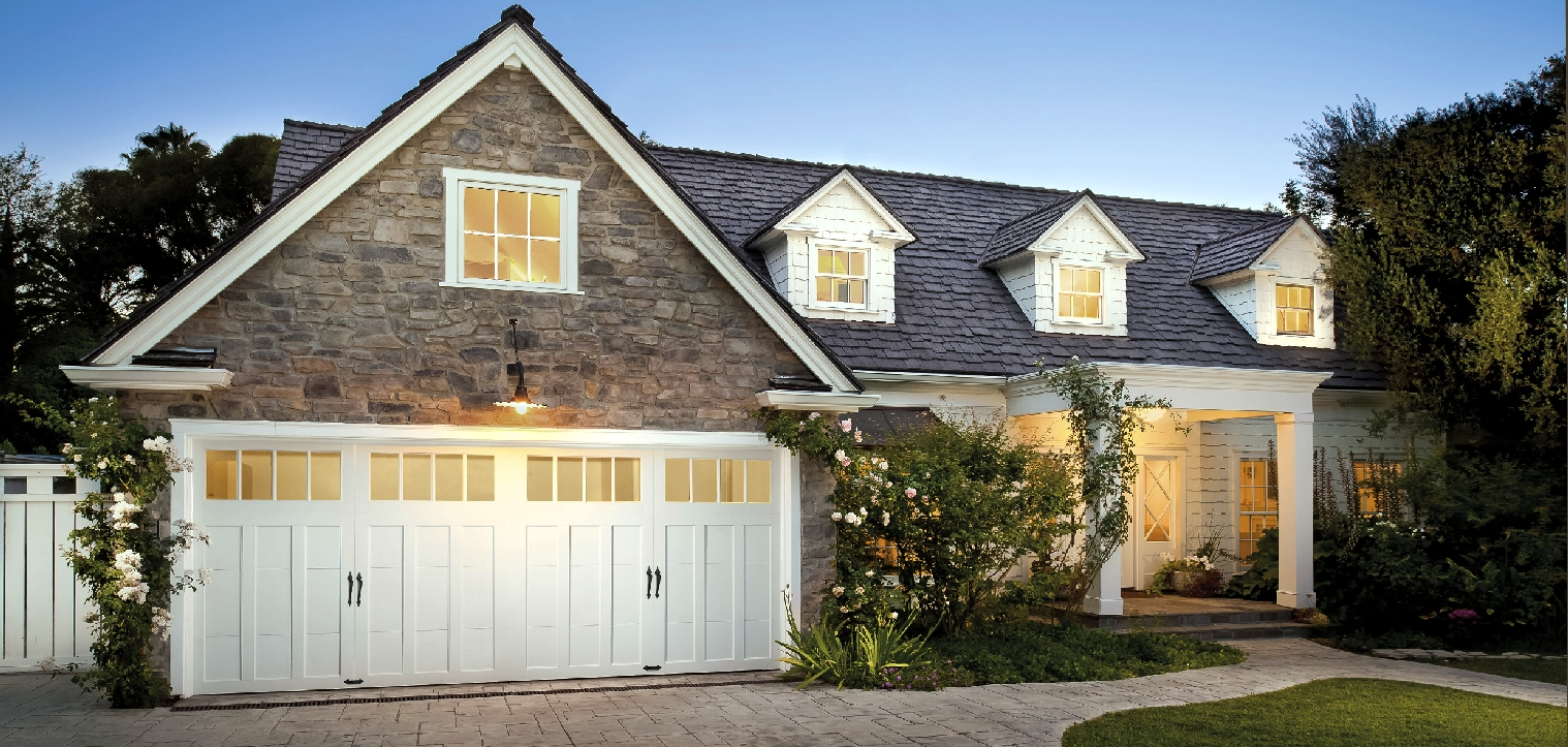 Insulated steel carriage house style garage doors